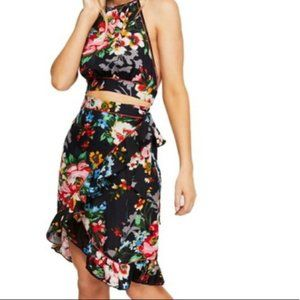 NWT Free People Floral Top and Wrap Skirt Set Sz M